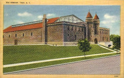The Armory - Troy, New York NY Postcard