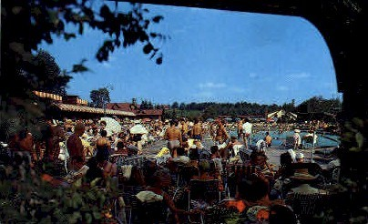Outdoor Olympic Pool - Liberty, New York NY Postcard