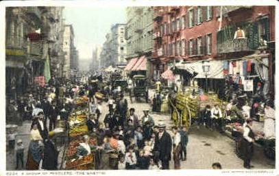 A Group of Peddlers - Misc, New York NY Postcard
