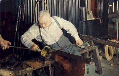 Making or Steuben Glass - Corning, New York NY Postcard