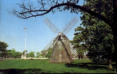 Old Windmill - Long Island, New York NY Postcard
