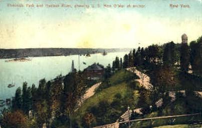 Riverside Park and Hudson River - Misc, New York NY Postcard
