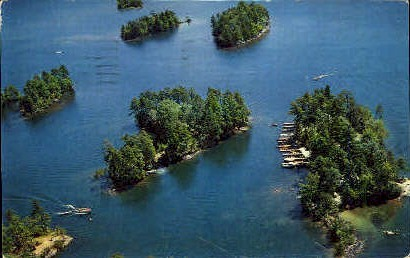Docks at Glen Id. Ranger Headquarters - Misc, New York NY Postcard