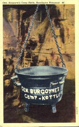 Gen. Burgoynes Camp Kettle - Misc, New York NY Postcard
