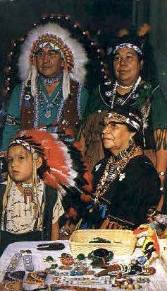 Indian Family - Misc, New York NY Postcard