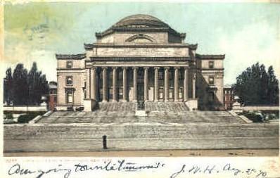 Library, Columbia University - Misc, New York NY Postcard
