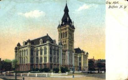 City Hall and Woolworth Building - Buffalo, New York NY Postcard