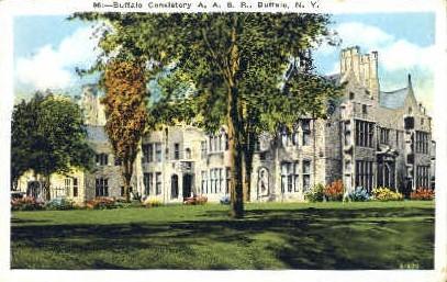 Buffalo Consistory - New York NY Postcard