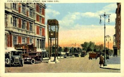 5th Avenue at 57th Street - New York City Postcards, New York NY Postcard