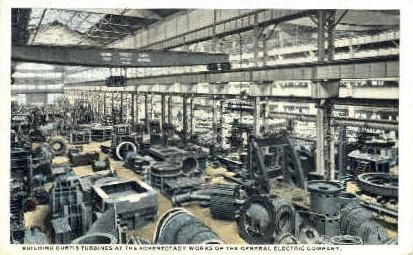 Building Curtis Turbines - Misc, New York NY Postcard