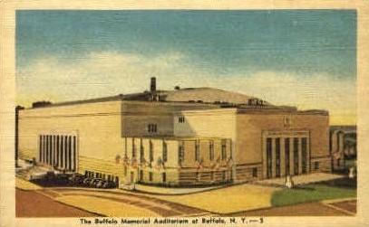 The Buffalo Memorial Auditorium - New York NY Postcard