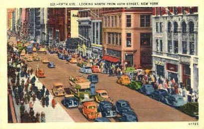 5th Street looking North - New York City Postcards, New York NY Postcard