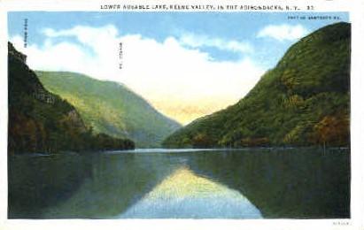 Lower Ausable Lake - Adirondack Mts, New York NY Postcard