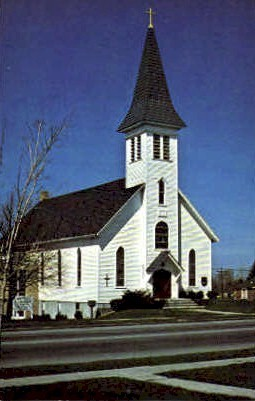 Immanuel Evangelical Lutheran Church - Webster, New York NY Postcard
