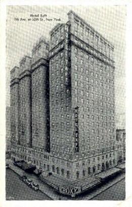 Hotel Taft - Misc, New York NY Postcard