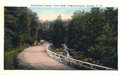 Fennimore Cooper Trail - Lake George, New York NY Postcard