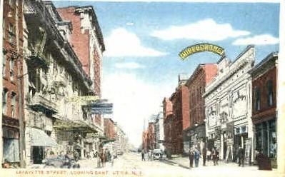 Lafayette Street - Utica, New York NY Postcard