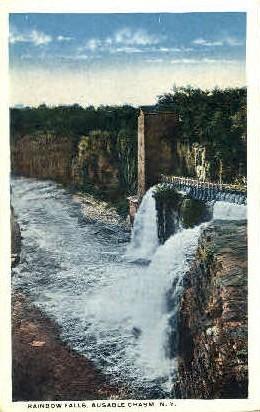 Raibow Falls - Ausable Chasm, New York NY Postcard