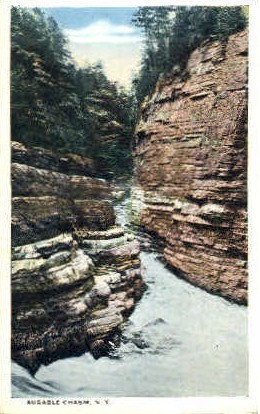 Ausable Chasm, New York Postcard