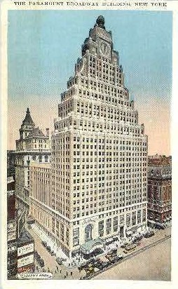 The Paramount Broadway Building - New York City Postcards, New York NY Postcard