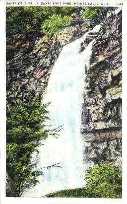 Santa Cruz Falls - Haines Falls, New York NY Postcard