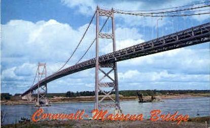 Cornwall-Massena Bridge - Misc, New York NY Postcard