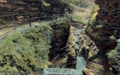Stillwater Gorge - Watkins Glen, New York NY Postcard