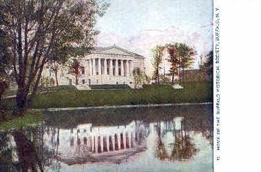Home of the Buffalo Historical Society - New York NY Postcard