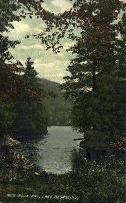 Red Rock Bay - Lake George, New York NY Postcard