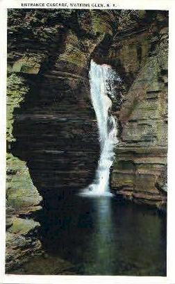 Entrance Cascade - Watkins Glen, New York NY Postcard