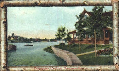 Picturesque America - Thousand Islands, New York NY Postcard