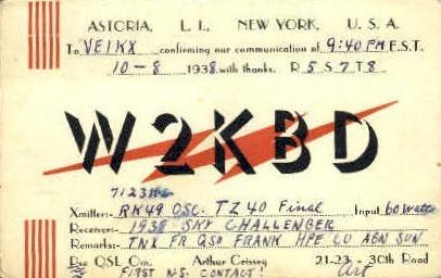 Radio Astoria - Long Island, New York NY Postcard