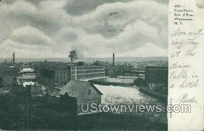 River - Watertown, New York NY Postcard