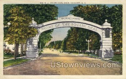 E.J. Square Deal Arch - Endicott, New York NY Postcard