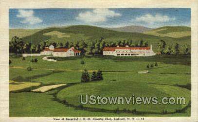 I.B.M. Country Club - Endicott, New York NY Postcard