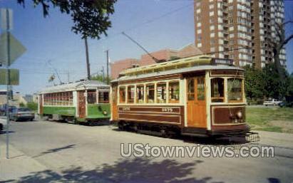 Streetcar Visits Dallas - Misc, New York NY Postcard