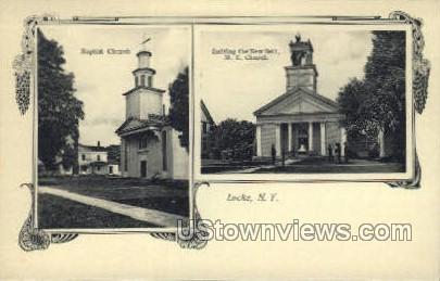 Baptist Church - Locke, New York NY Postcard