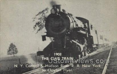 The Club Train - Misc, New York NY Postcard