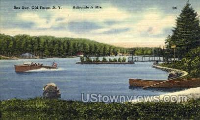 Bea Bay, Adirondack Mts - Old Forge, New York NY Postcard