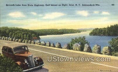 Seventh Lake, Adirondack Mts - Inlet, New York NY Postcard