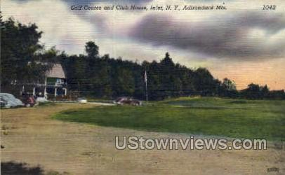 Golf Course & Club House - Inlet, New York NY Postcard