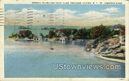 Grenell Island & Yacht Club - Thousand Islands, New York NY Postcard