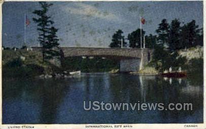 Thousand Island Bridge - Alexandria Bay, New York NY Postcard