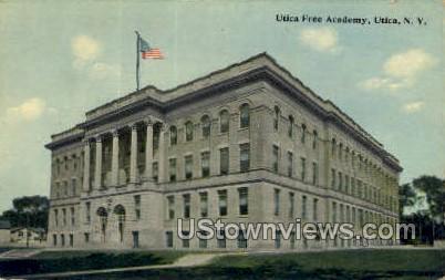 Utica Free Academy - New York NY Postcard