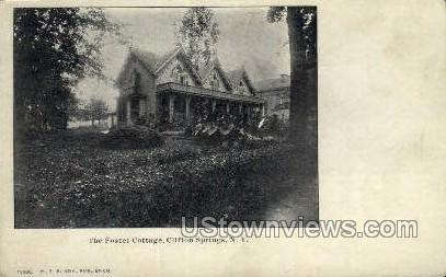 Foster Cottage - Clifton Springs, New York NY Postcard
