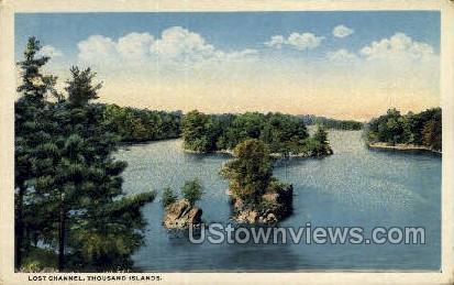 Lost Channel - Thousand Islands, New York NY Postcard