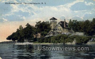 Manhattan Island - Thousand Islands, New York NY Postcard