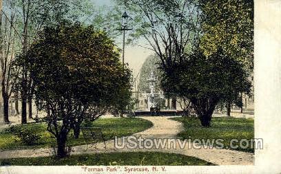 Forman Park - Syracuse, New York NY Postcard