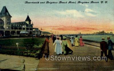 Brighton Beach Hotel - New York NY Postcard