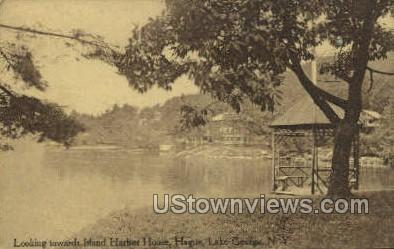 Island Harbor House, Hague - Lake George, New York NY Postcard
